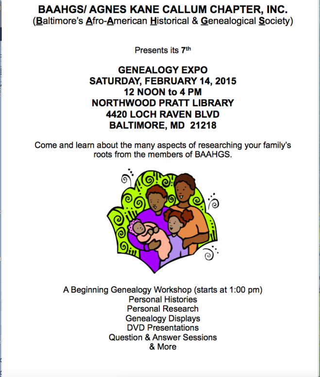 BAAHGS Genealogy Expo 2015